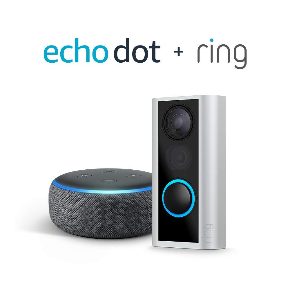 Ring Peephole Cam with Echo Dot (3rd Gen)